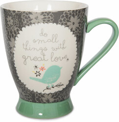 Small Things by Bloom by Amylee Weeks - 18 oz Bird & Flowers Mug
