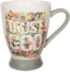 Trust God by Bloom by Amylee Weeks - 18 oz Butterfly & Floral Mug