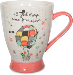 From Above by Bloom by Amylee Weeks - 18 oz Hot Air Balloon Mug