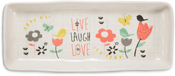"Live Laugh Love by Bloom by Amylee Weeks - 11"" x 4.5"" Tray"