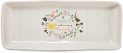 "Thankful and Blessed by Bloom by Amylee Weeks - 11"" x 4.5"" Tray"