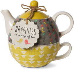 Time for Tea by Bloom by Amylee Weeks - 15 oz. Teapot & 8 oz Cup
