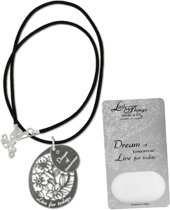 "Dream Necklace by Little Things Mean A Lot - With 1.5"" Teardrop Pendant"
