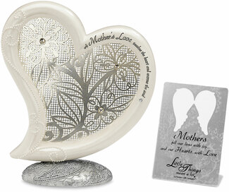 "A Mother's Love by Little Things Mean A Lot - 5""Self Standing Heart Plaque"