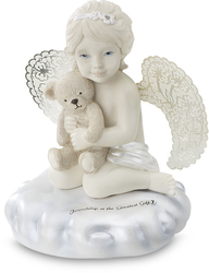 "Friendship by Little Things Mean A Lot - 3.5"" Cherub w/Teddy Bear"