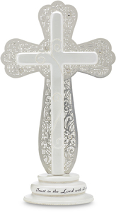 "Trust in the Lord by Little Things Mean A Lot - 7.5"" Self Standing Cross"