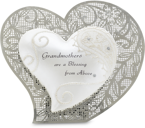"Grandmother by Little Things Mean A Lot - Grandmother - 4.5"" Self Standing Heart"