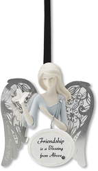"Friendship by Little Things Mean A Lot - 3"" Angel Ornament"