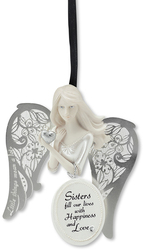 "Sister by Little Things Mean A Lot - 3"" Angel Ornament"