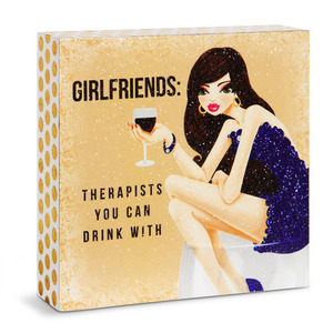 "Girlfriends by Girlfinds - 4"" x 4"" Plaque"