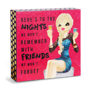 "Friends We Won't Forget by Girlfinds - 4"" x 4"" Plaque"