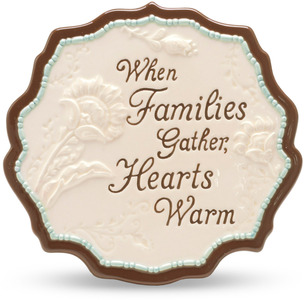 "Family by Perfectly Paisley - 5.5"" x 5.5"" Plaque"