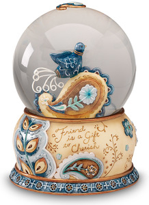 Friend by Perfectly Paisley - 100mm Musical Water Globe