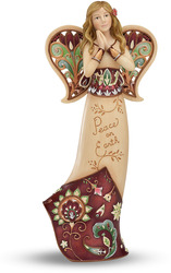 "Peace on Earth by Perfectly Paisley Holiday - 9"" Angel Praying"