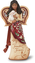 "EBN Friends Forever by Perfectly Paisley Holiday - 4.5"" EBN Angel w/Bunny Orn."