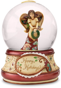 Happy Holidays by Perfectly Paisley Holiday - 100mm Musical Water Globe