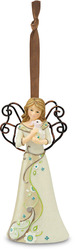 "Kindness by Perfectly Paisley - 4.5"" Angel w/Bunny Ornament"