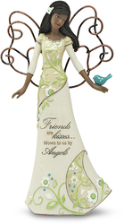 "EBN Friends by Perfectly Paisley - 9"" EBN Angel Holding Bird"