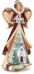 "Oh Holy Night by Perfectly Paisley Holiday - 9"" Angel with Diorama"