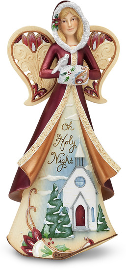 Oh Holy Night by Perfectly Paisley Holiday - Perfectly Paisley Holiday is a high quality line of angel figurines, plaques and candle holders. Each items contains a heartfelt sentiment. Perfect gifts for that special someone or do decorate your own home. Designed by Pavilion Gift Company.
