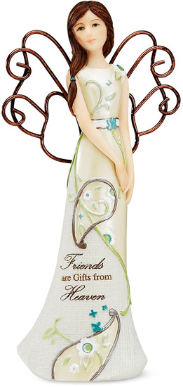 Friend Angel by Perfectly Paisley - Perfectly Paisley is a high quality line of angel figurines, plaques and candle holders. Each items contains a heartfelt sentiment. Perfect gifts for that special someone or do decorate your own home. Designed by Pavilion Gift Company.