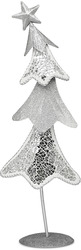 "13.5""Sparkling ChristmasTree by Perfectly Presented - Glass & Metal ChristmasTree"