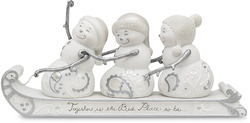 "Together by Perfectly Presented - 4.5"" Snowmen on Sled"