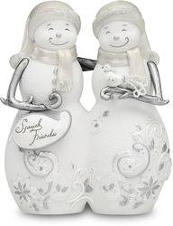 "Special Friends by Perfectly Presented - 5"" Snowmen Hugging"