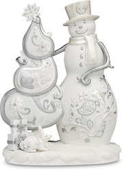 "Chistmas Traditions by Perfectly Presented - 7.5"" Snowman with Tree"