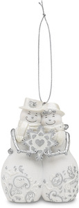 "Love by Perfectly Presented - 4""Snowcouple w/Snowflake Orn"