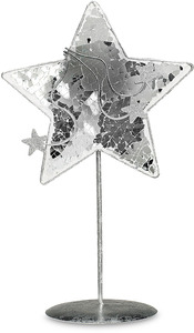 "9.5"" Sparkling Star by Perfectly Presented - Glass & Metal Star"