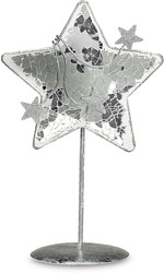 "7.5"" Sparkling Star by Perfectly Presented - Glass & Metal Star"