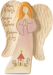"Faith by Heavenly Woods - 6"" Praying Angel"