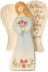 "Aunt by Heavenly Woods - 6"" Angel Holding Flowers"