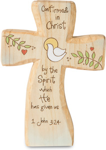 "Confirmation by Heavenly Woods - 5"" Self-Standing Cross"