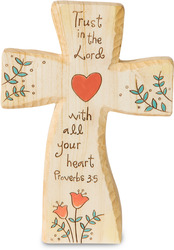 "Trust in the Lord by Heavenly Woods - 5"" Self-Standing Cross"