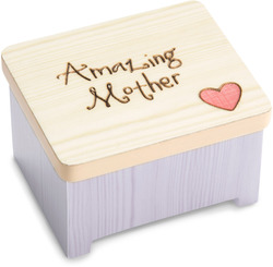 "Amazing Mother by Heavenly Woods - 2"" Keepsake Box"