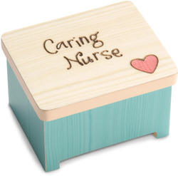 "Caring Nurse by Heavenly Woods - 2"" Keepsake Box"
