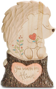 "Warm My Heart by Heavenly Woods - 5"" Hedgehog on a Log"