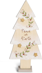"Peace by Heavenly Winter Woods - 8"" Self-Standing Tree"