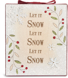 "Let it Snow by Heavenly Winter Woods - 6"" x 7"" Plaque"