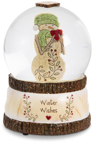Winter Wishes by Heavenly Winter Woods - 100mm Musical Water Globe