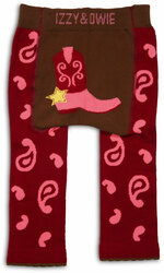 Red and Pink Cowgirl by Izzy & Owie - 6-12 Month Baby Leggings