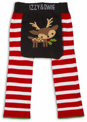 Red and White Reindeer by Izzy & Owie - 12-24 Month Baby Leggings