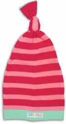 Pink Stripe by Izzy & Owie - 0-12 Month Baby Hat