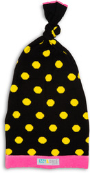 Yellow and Black Dot by Izzy & Owie - 0-12 Month Baby Hat
