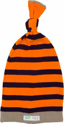 Orange and Navy Stripe by Izzy & Owie - 0-12 Month Baby Hat