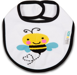 Yellow and Black Bee by Izzy & Owie - Baby Bib