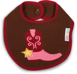 Red and Pink Cowgirl by Izzy & Owie - Baby Bib