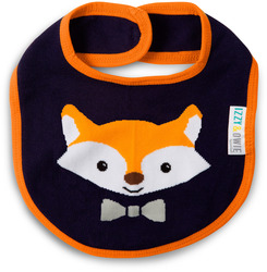 Orange and Navy Fox by Izzy & Owie - Baby Bib